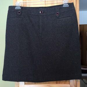 Eddie Bauer dark grey wool skirt